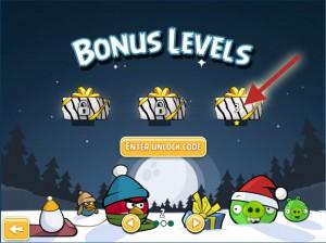 Angry Birds for Chrome Christmas Bonus Levels Unlock Code