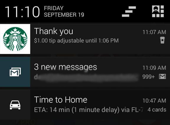 Screenshot: Starbucks Android App with Mobile Tipping
